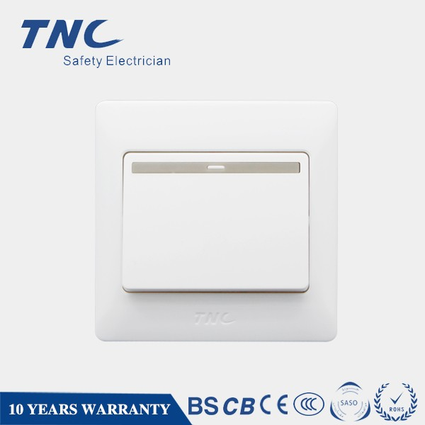 One Gang One Way Switch 16A 220V Button 16A Wall Switch Electric Rocker Switch 16Amps 250V with 10 Years Warranty