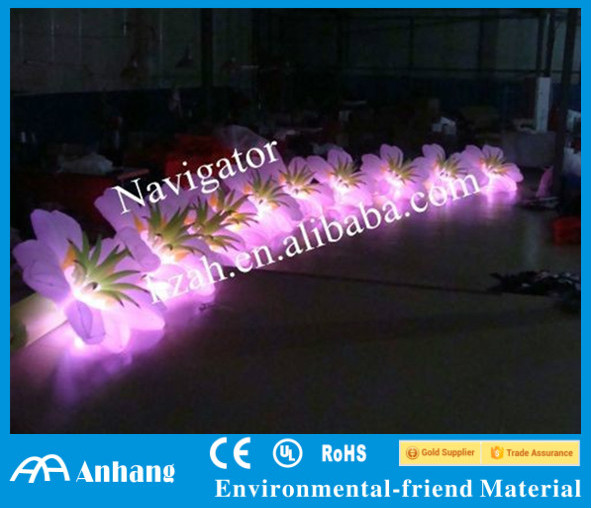Wedding Stage Decoration Lighted Inflatable Flower Chain