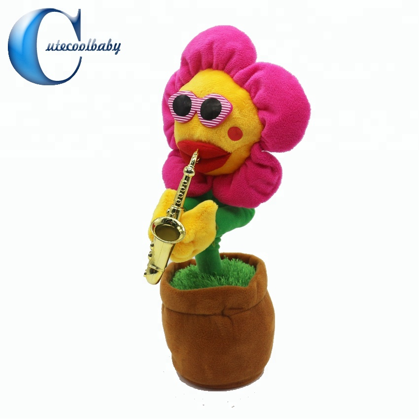 Musical Sun Flower Soft <strong>Plush</strong> Dancing & Dancing Toy for Relaxing Time