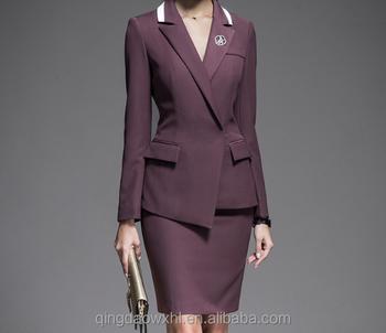 4610e0092 2018 venta al por mayor estilo coreano elegante trabajo trajes formales  trajes de negocios para mujeres