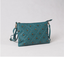 Ladies Skull Studded Clutch Bag Wholesale
