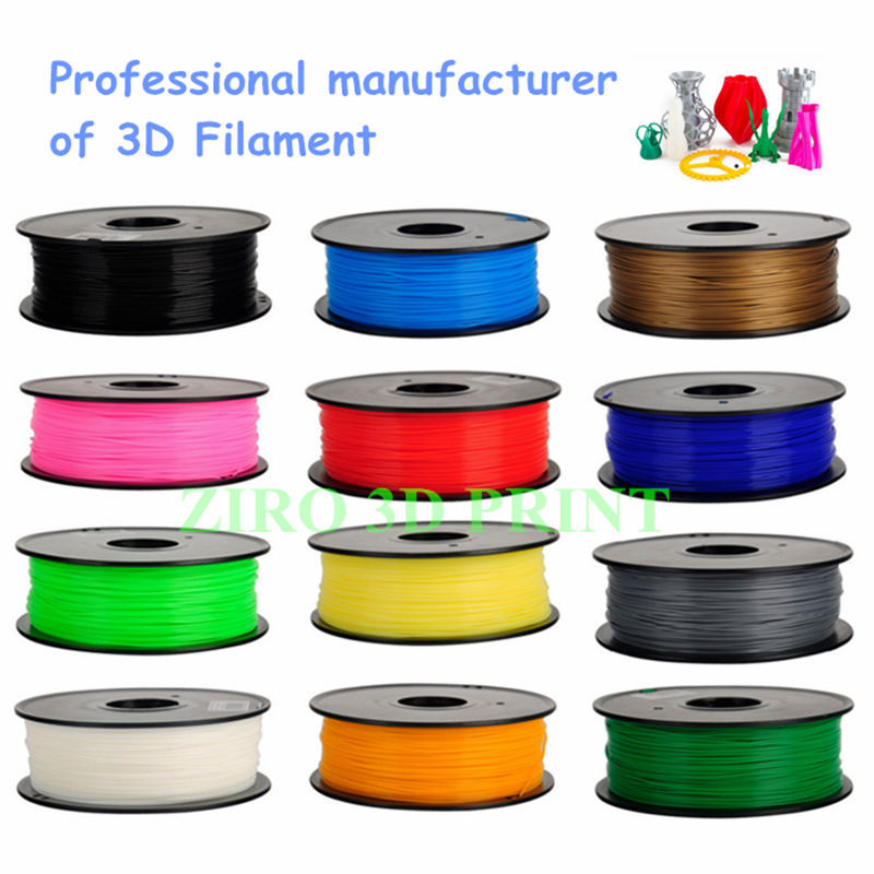 No recycled raw material high quality plastic filament for 3D printing/Pla Abs Wood Nylon Pva printer filament etc.