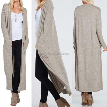 667a5a26cc0b Latest Design Cardigan Long Sleeve Long Line Kimono Cardigan Women ...