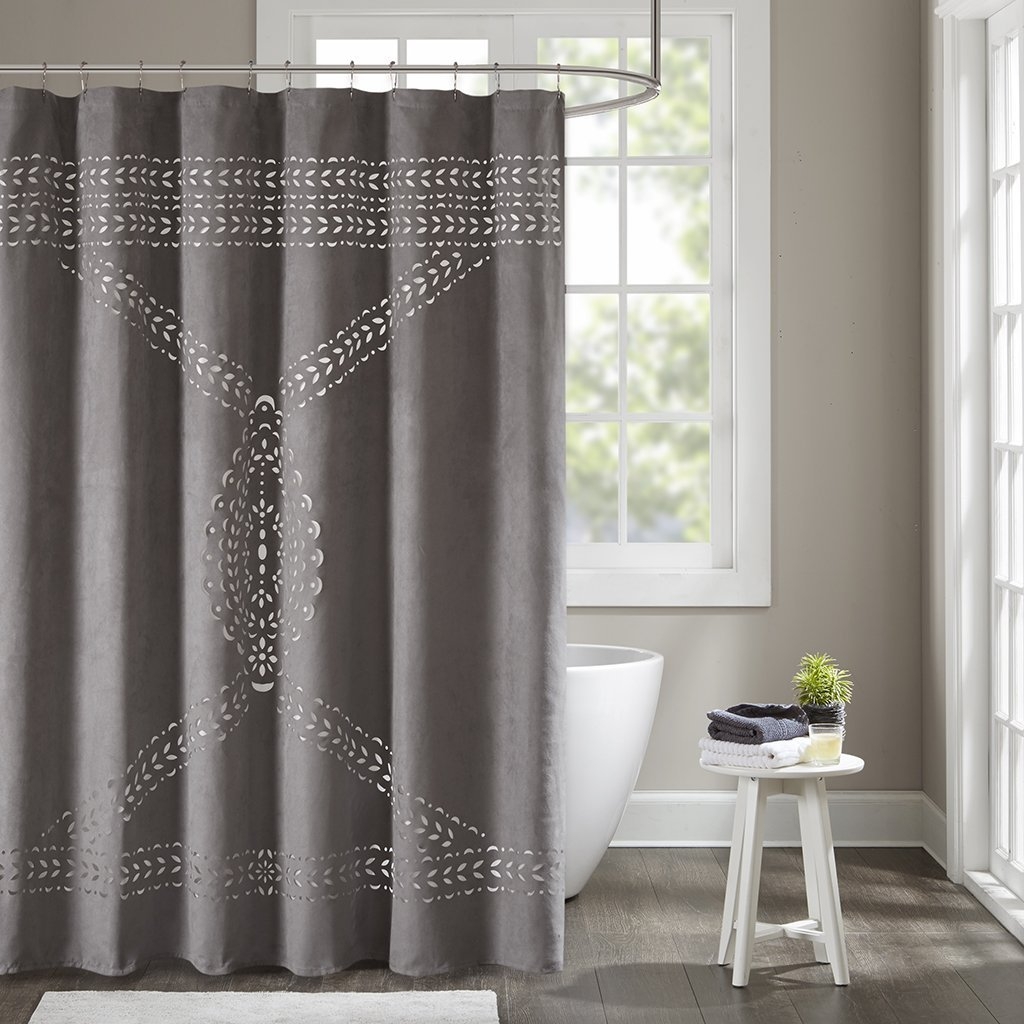 Get Quotations Lucy Laser Cut Shower Curtain Grey 72x72