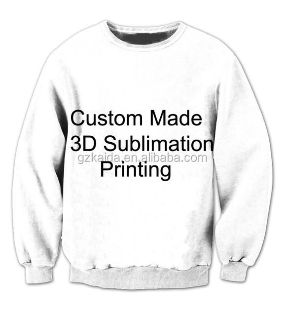REAL American SIZE Custom,Create your own,3D Sublimation Print Crew neck Sweatshirt,plus size
