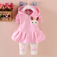 S60086B new design baby cute two-piece clothing sets small white rabbit cartoon sets