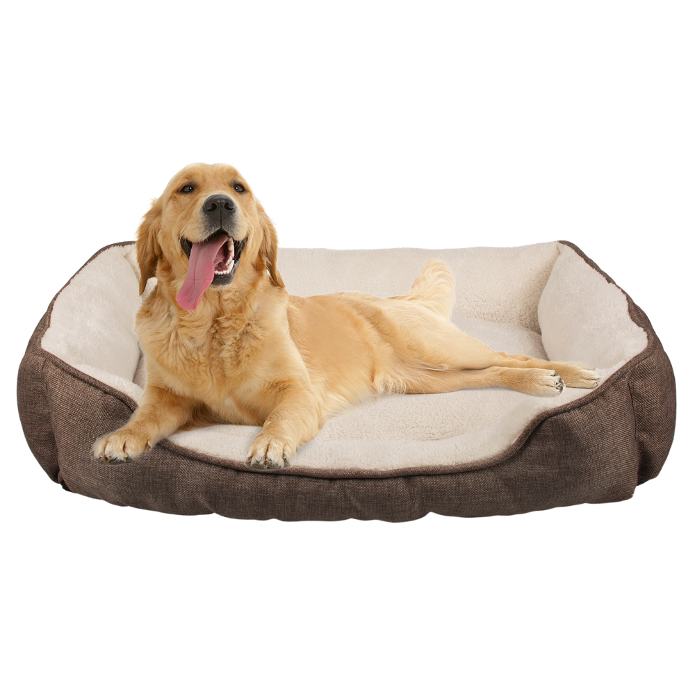 wholesale most popular faux suede non slip dog bed sponge frame dog <strong>pet</strong>