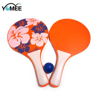 Summer Promotion Wooden Beach Paddle Ball Game Set Beach Rackets