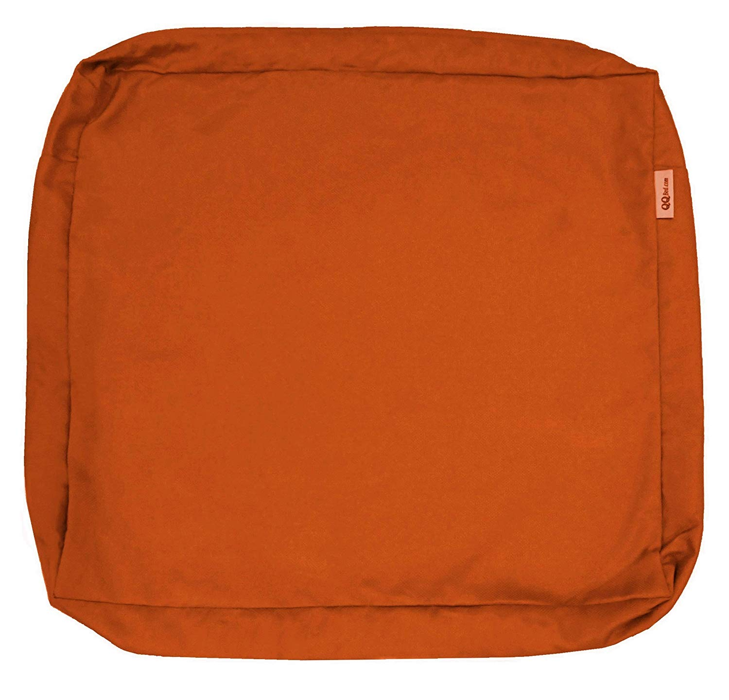 """QQbed Outdoor Patio Chair Washable Cushion Pillow Seat Covers Extra Large 24""""X22""""X4"""" - Replacement Covers Only (24""""X22""""X4"""" 4 PACK, Rust)"""
