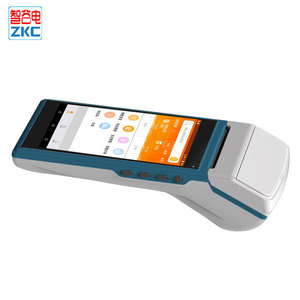 5.5inch Android Touch Screen Mobile rfid pos terminal for loyalty program system With Printer ZKC5501