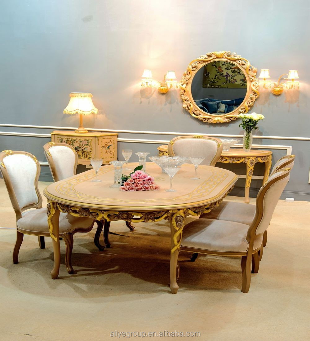 Anime Royal Dining Room: Amf0672-italian Royal Dining Table Set Standard Furniture