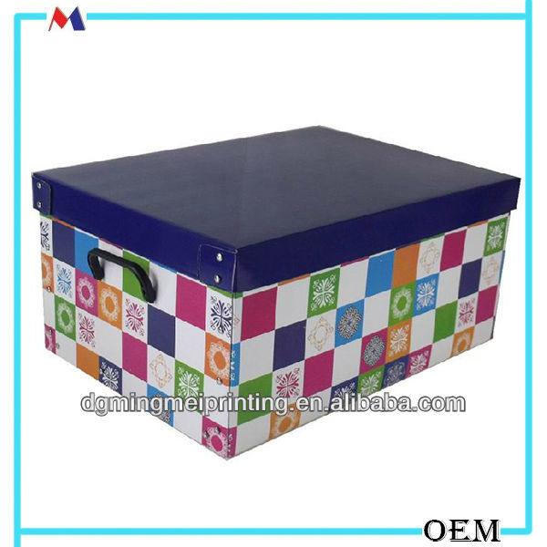 Oem Printing House Decorative Lids Cardboard Storage Box Bo Printed