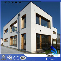 Low Cost Passive Prefab 250m2 House Plans with Window Frame