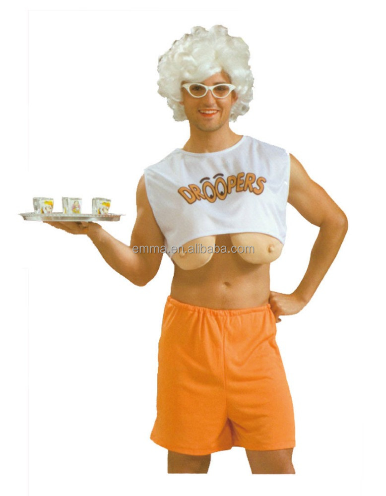 1540ba6a041 Adult Men Funny Droopers Hooters Big Boobs Fancy Dress Stag Party Costume  Saggy Bmg17069 - Buy Funny Adult Men Costume,Droopers Hooters Big Boobs ...