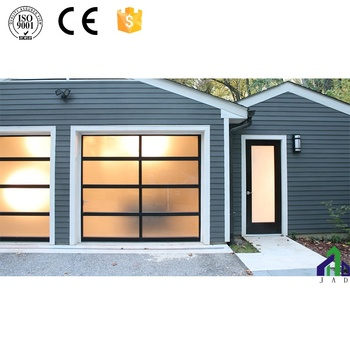 High Quality Aluminum Full View Door Glass Garage Door