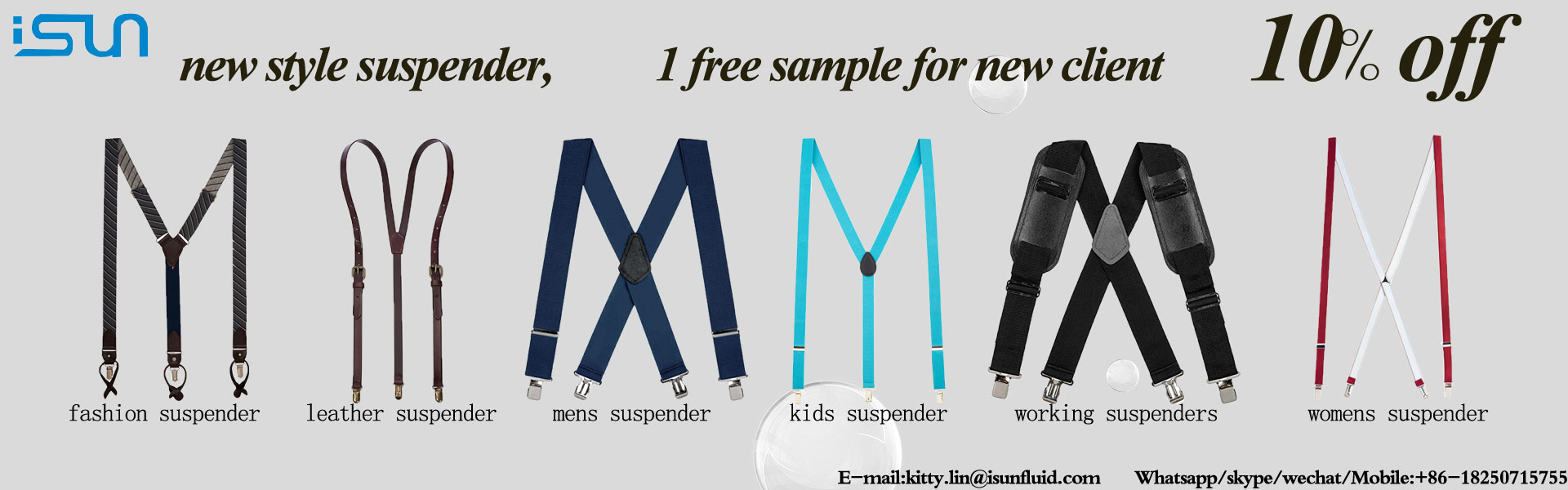 FACTORY PRICE Best for Gift and Wedding Leather Suspenders for Men and Women