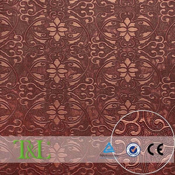 bruin romantisch patroon behang vinyl behang voor woonkamer ...