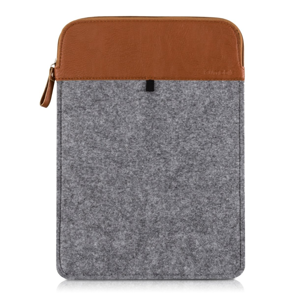 """kwmobile laptop felt case cover for 12,5"""" 13"""" 13,3"""" Laptop / Ultrabook - notebook protective cover in grey brown Inner dimensions: approx. 36 x 26 cm"""