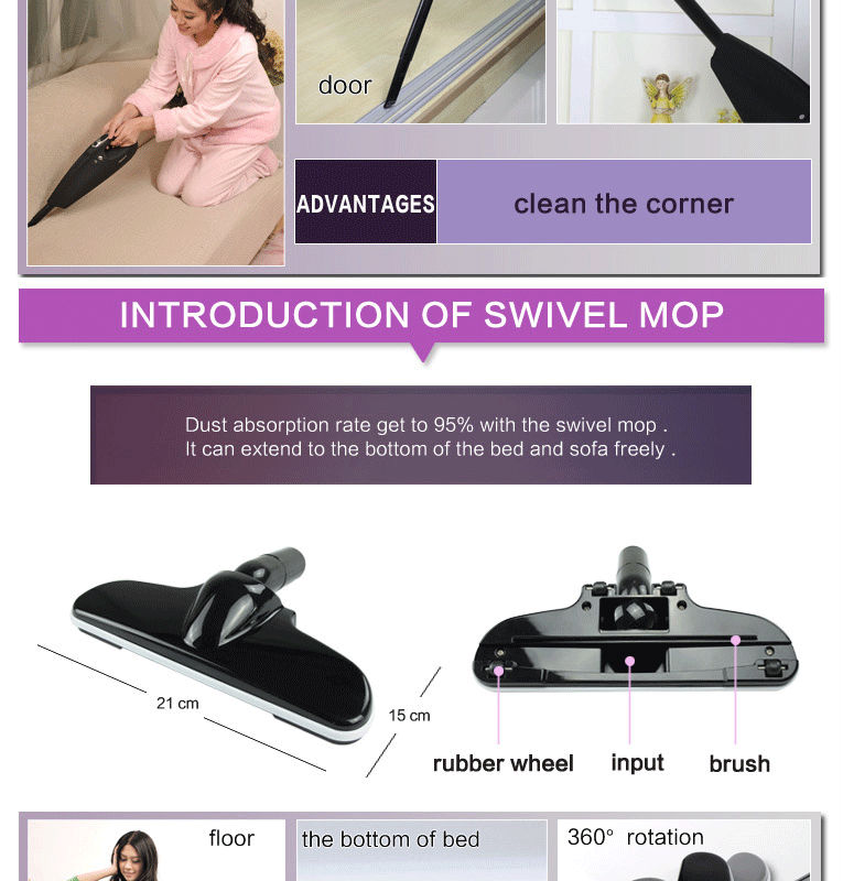 Rechargeable Handheld dust mites VacUum Cleaner