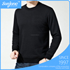 Winter long sleeve O-neck bottoming slim fit thick blank men's t shirt