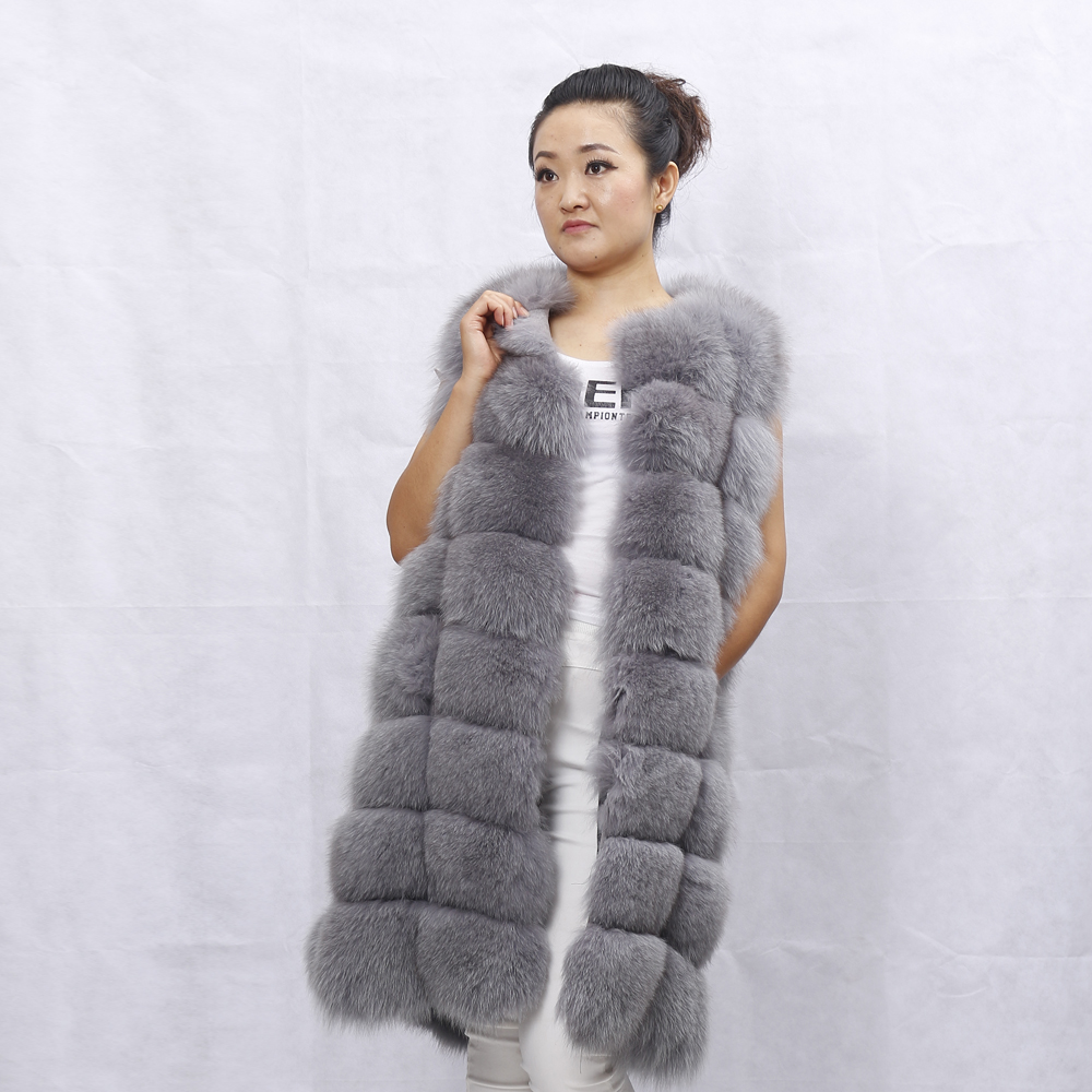 Furs Supplier Russian Style Winter Fox Fur Vest For Women