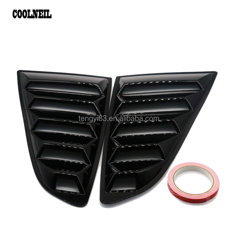Car Rear Side Window Decorative Air Outlet Diffuser Shutter Fender  For Toyota 86 Subaru BRZ