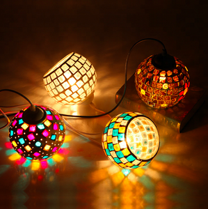 Mosaic Hanging Lantern Lamp Decorative Morocco Chandeliers Pendant Lights