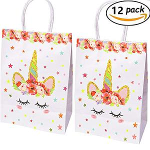 Unicorn Paper Goodie Bags Unicorn Bags Gift Bag for Kids Birthday Party Supplies