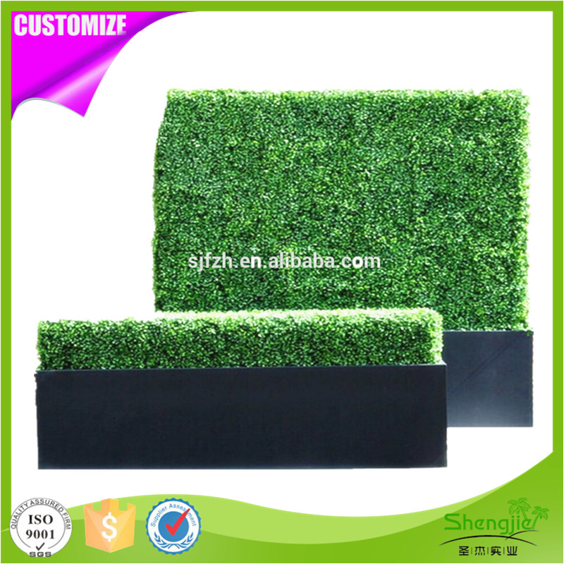 Eco-friendly custom artificial grass boxwood hedge panel for outdoor