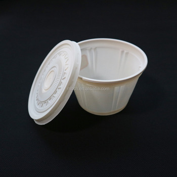 Corn Starch Made Disposable Round Paper Bowl Bio Degradable Microwave Bowls