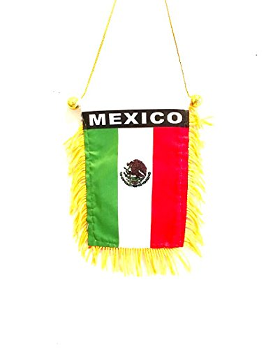 Mexico automobile car suv truck vans pickups mini banner flag perfect for Auto or Home use