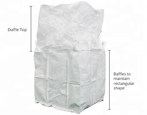 1000kg Abmessung 100% neues Material Jumbo Tonne Zuckerbeutel Großbehälter