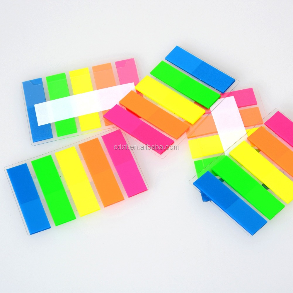 Colore fluorescente pellicola Indice sticky notes