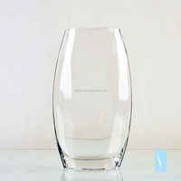 SYS High quality handmade clear glass vase for flower