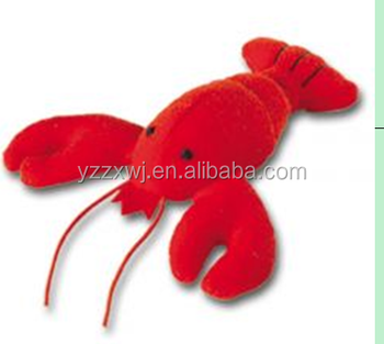 Plush Red Lobster Toys Plush Stuffed Lobster Animal Toy Vivid Red
