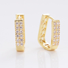 Yiwu Meise Characteristic Diamond Embellished Gold Adorable Earrings Copper Earrings