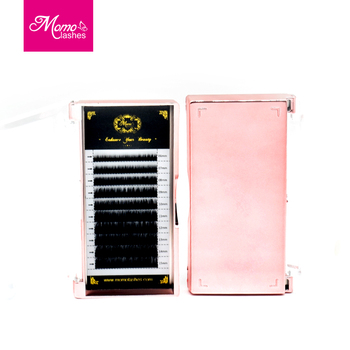 Free Samples Wholesale Private Label Mink Individual Eyelash Extensions With Custom Lash Extension Packaging