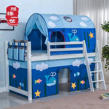 Tende Per Letti A Castello.Bambini Tenda Tunnel Tenda Letto A Soppalco In Legno Massello Letto