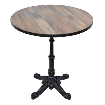 Cast Iron Table Base Restaurant Dining Table With Wooden Table Top - Cast iron restaurant table bases