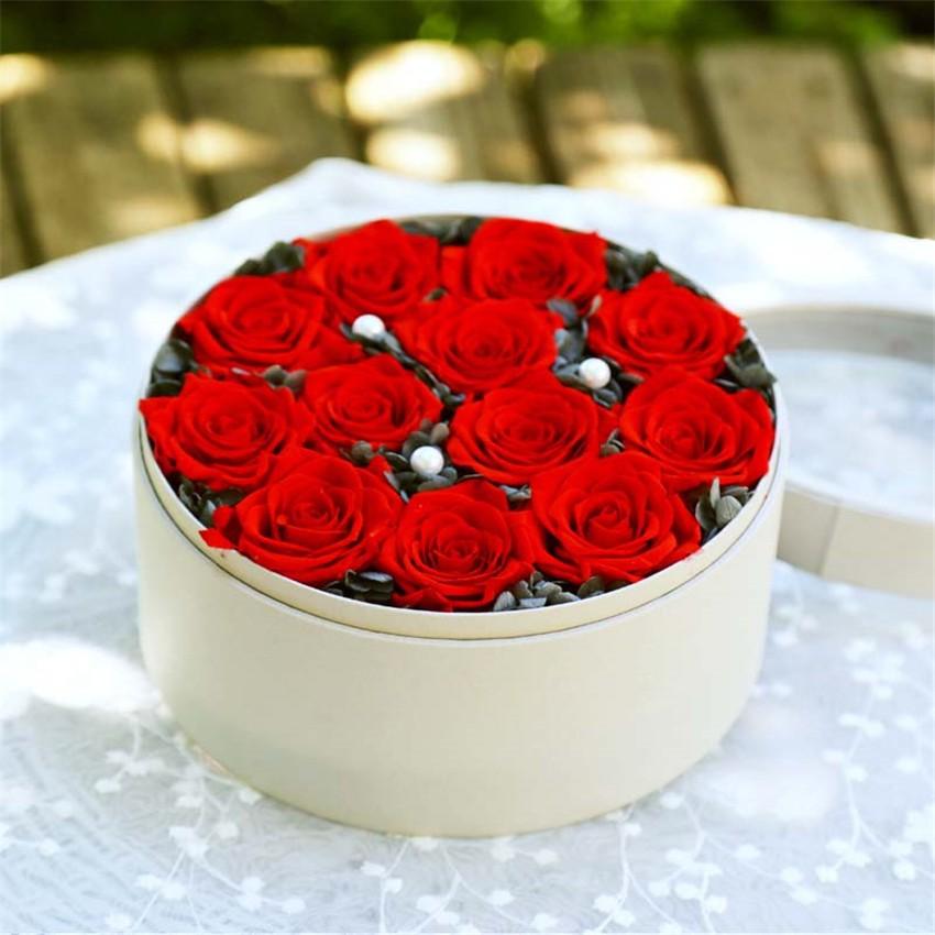 en gros fleurs préservées préservés roses fleur Éternelle avec