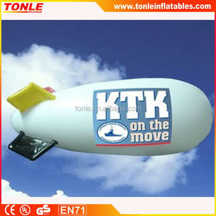 Popular Inflatable Advertising PVC Ballon/Helium Fly Blimp/ zeppelin inflatable for sale