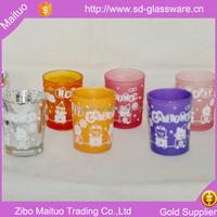 wholesale wine glass pillar candle holders centerpiece
