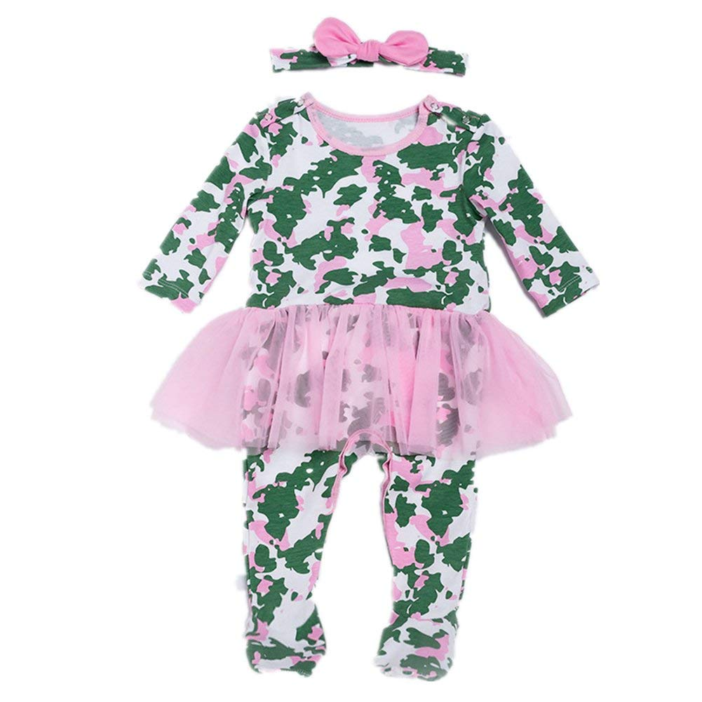 44fe0b9e8f Get Quotations · Beide Baby Boys Girls Camouflage Footed Sleep and Play  Pijama Set