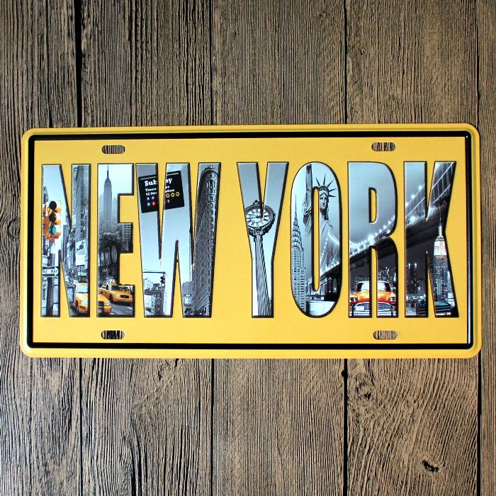 15x30cm plaque en métal vintage plaque murale art affiche café bar pub