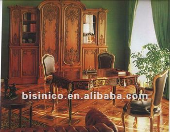 French Style Wooden Marquetry Executive Office Furnitureroyal