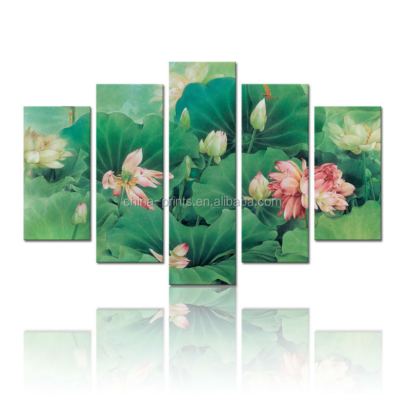 Lotus Flower Paintingmulti Panel Canvas Print Artcanvas Artworks