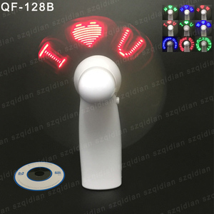 Best Selling Hand Held Led Flashing Handy Programmable LED Mini Fan For Travellers