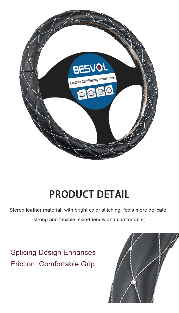 FX-P-18832 newly Fashion sport Genuine steering wheel cover