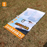 Large ceiling full color printing PVC vinyl banners, double sides printed vinyl banners, customized smooth vinyl flag