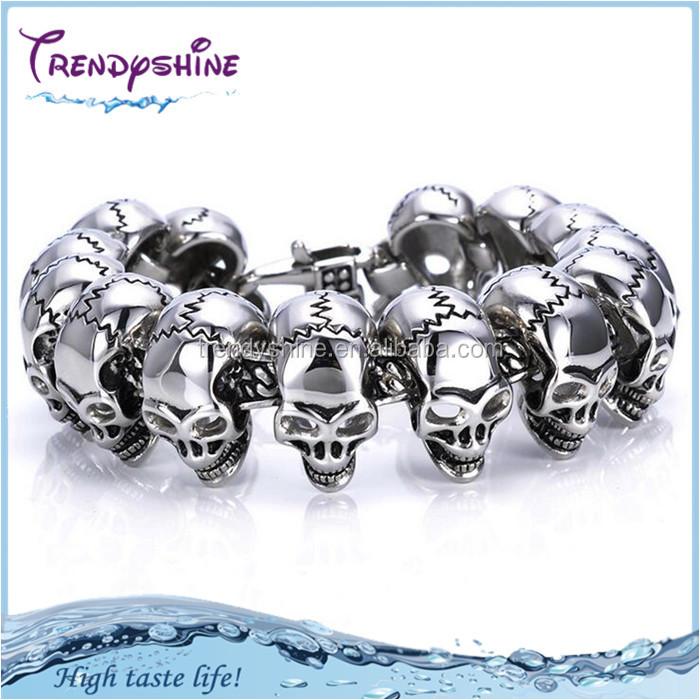 Men Stainless Steel Skull Bracelet